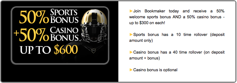 bookmaker signup bonus