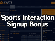 sports interaction signup bonus